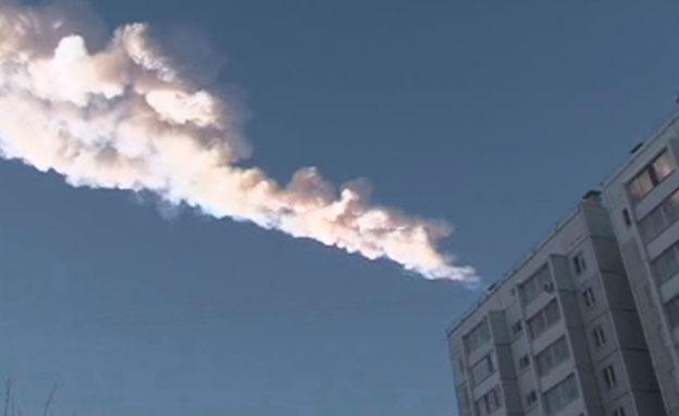 חלקיקי האסטרואיד מעל רוסיה, בשנה שעברה (צילום: רויטרס)