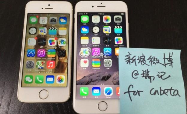 אייפון 6 הדלפות (צילום: Weibo)