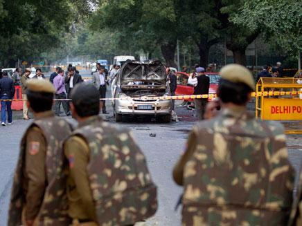 הפיגוע בשגרירות ישראל בהודו (צילום: AP)