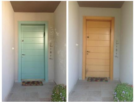 דלת עץ לפני ואחרי