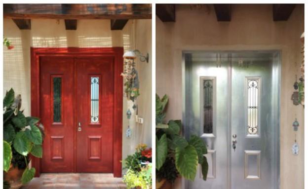 דלתות, דלת פח לפני ואחרי צביעה אמנותית