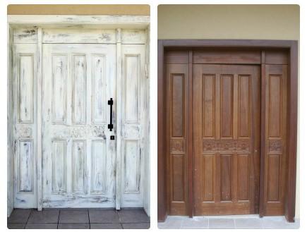 דלתות, טכניקת צביעה יישון אמנותית