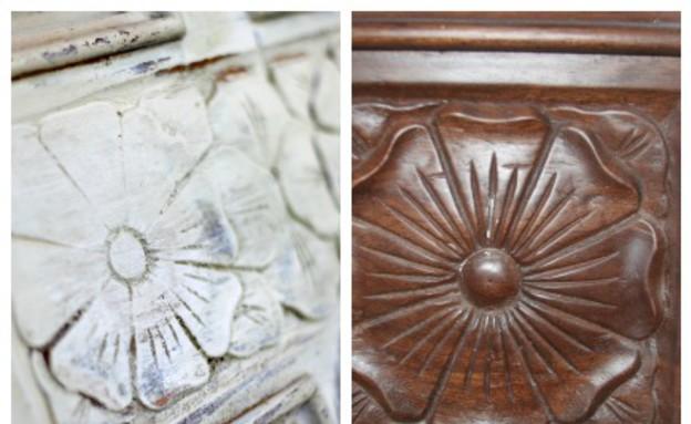 דלתות, לפני ואחרי פרט מדלת חדשה (צילום:  דן פרץ)