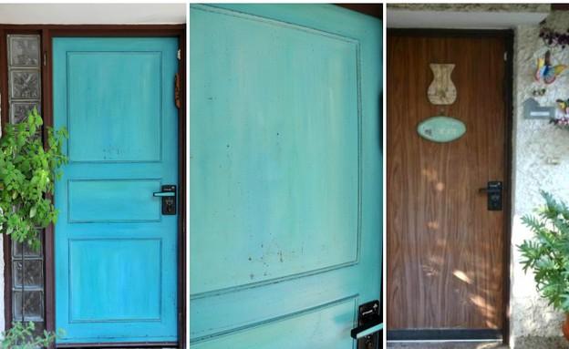 דלתות, פלדלת צביעה אמנותית (צילום: מיכל יניב)