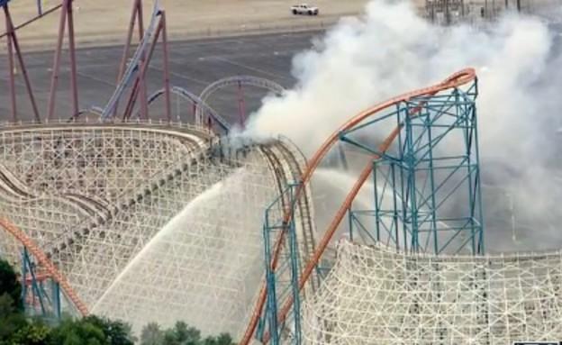 רכבת הרים שריפה (צילום: צילום מסך)