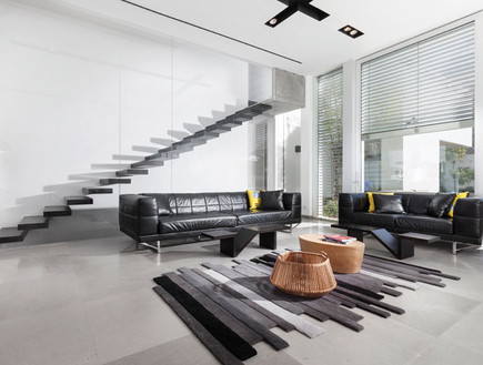 בית עם בריכה בקומה העליונה (צילום: אלעד גונן)