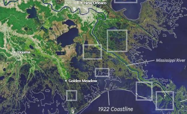 לואיזיאנה (צילום: USGS Landsat)