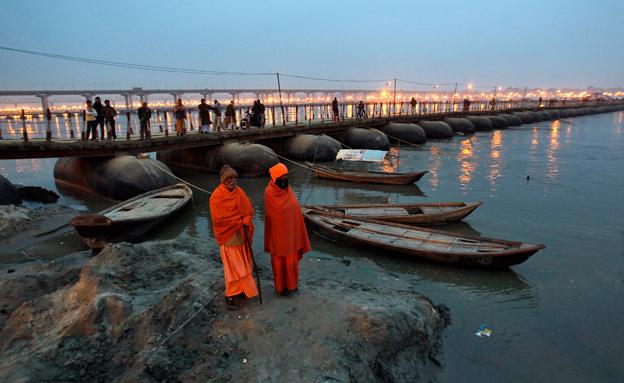 בקרוב המים יהיו צלולים? נהר הגנגס המזוהם (צילום: רויטרס)