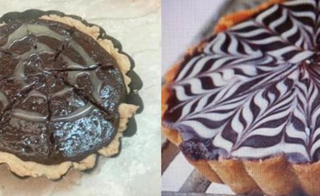 """קישוטי עוגה עם מזרק נורפן (צילום: שלומית פרבר ויזנר מהבלוג """"אמהות אורבנית"""")"""