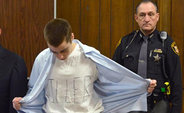 הרוצח בבית המשפט (צילום: AP)