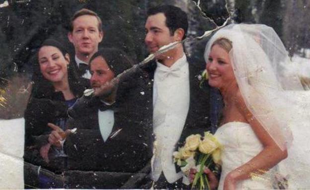 תמונת החתונה אסון התאומים (צילום: טוויטר)