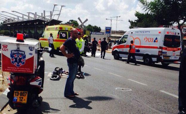 זירת התאונה, היום (צילום: ישראל בנשימול)