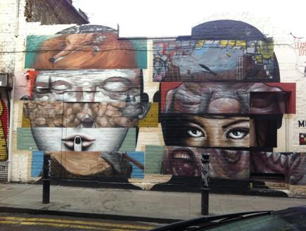 גרפיטי בשכונת שורדיץ' לונדון (צילום: איילת רוזן)