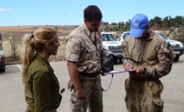 """חיילי או""""ם ברמת הגולן (צילום: ספיר ברונזברג, עיתון במחנה)"""