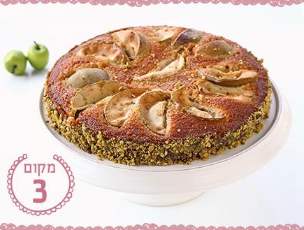 עוגת דבש עם תפוחים בסגנון פנינסייר של בית לחם
