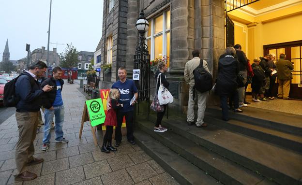 היום: סקוטלנד מחליטה על עתידה (צילום: רויטרס)