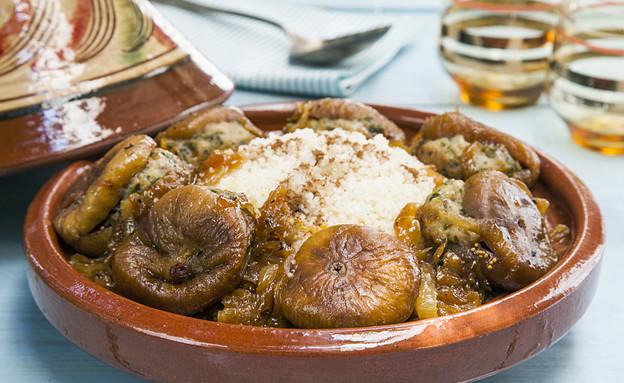 תאנים ממולאות על קוסקוס (צילום: אסף אמברם, אוכל טוב)