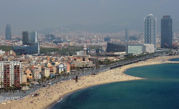 ברצלונה, חוף ים (צילום: Jasper Juinen, GettyImages IL)