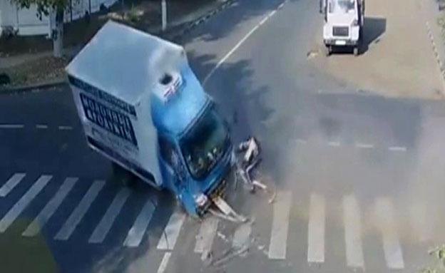 תאונה (צילום: חדשות 2)