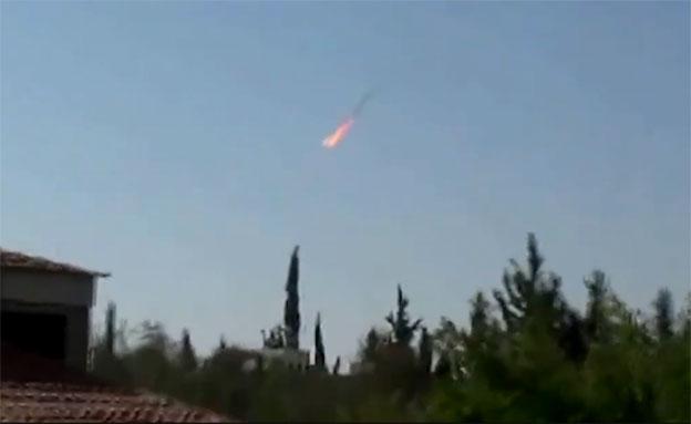 רגע פגיעה במטוס הסורי שחדר לישראל