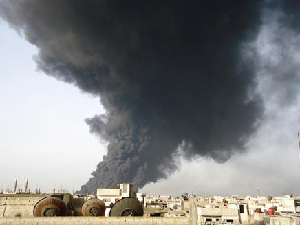 סדרת תקיפות בסוריה (ארכיון) (צילום: רויטרס)