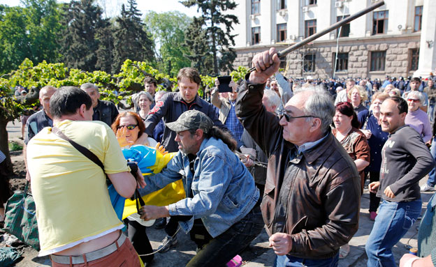 הפגנה אלימה באוקראינה, ארכיון (צילום: רויטרס)