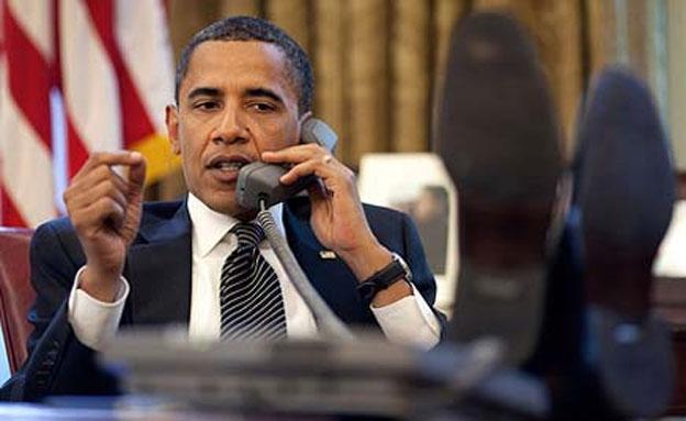 לא הוטרד. הנשיא אובמה (צילום: הבית הלבן)