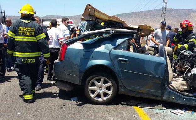 הכי פחות נפגעים מתאונות - בבני ברק (צילום: כבאות צפון)