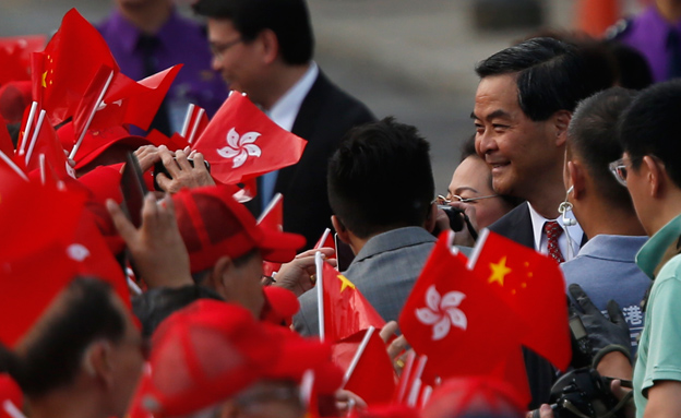 חגיגות בסין (צילום: חדשות 2)