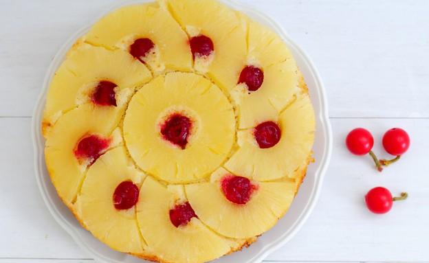 עוגת אננס הפוכה (צילום: שרית נובק - מיס פטל, אוכל טוב)