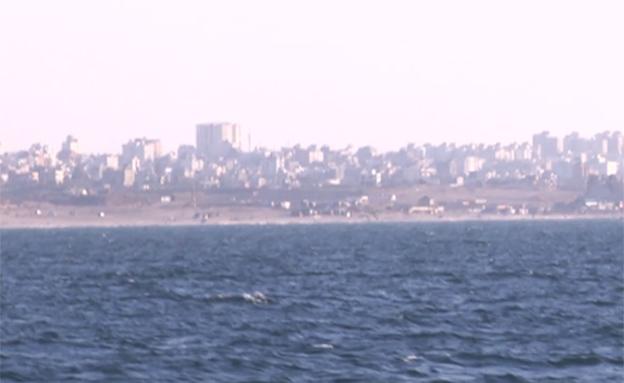 עזה, מן הים (צילום: חדשות 2)