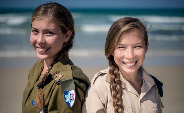 """אחת כבר יהודייה, השנייה בדרך (צילום: דובר צה""""ל)"""