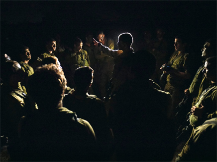 חיילים בכניסה הקרקעית לעזה