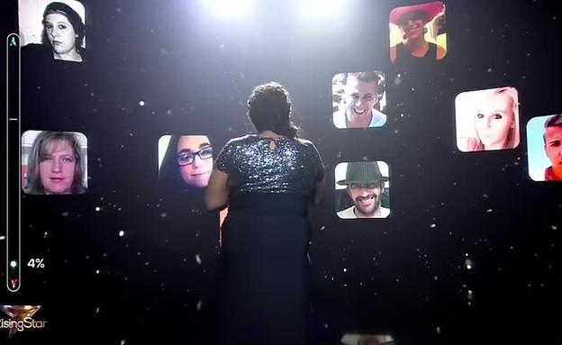 שילה ריי צ'ארלס מנסה להרים את המסך (תמונת AVI: Rising Star France)