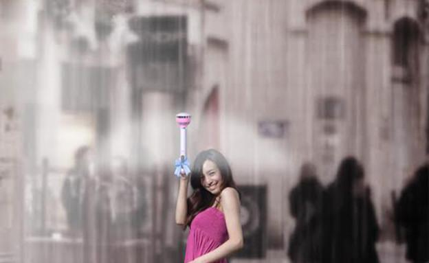 מטרייה שקופה (צילום: Yanko Design)