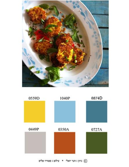 צבע ואוכל, קציצות תירס (צילום: סטודיו סליס )
