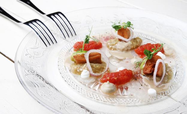 מסעדת אולה, דניאל רחמים, סשימי סביח (צילום: מיטל סולומון,  יחסי ציבור )