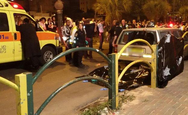 """התאונה בבני ברק (צילום: דוברות מד""""א)"""