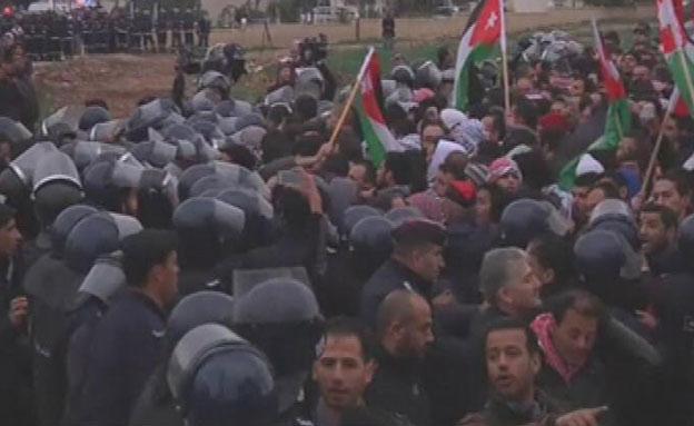 הפגנה אנטי-ישראלית בירדן, ארכיון (צילום: רויטרס)