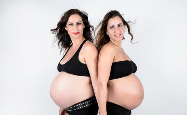 צילומי הריון- אחיות (צילום: טליה קריינין TatianArt)