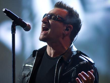 בונו, U2, גלסטונברי (צילום: Ian Gavan, GettyImages IL)