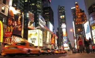 לילה בטיימס סקוור בניו יורק