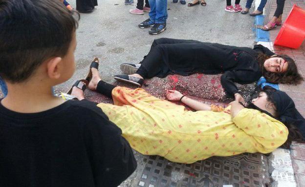 """""""גופות"""" ברחובות (צילום: עזרי עמרם (חדשות 2))"""