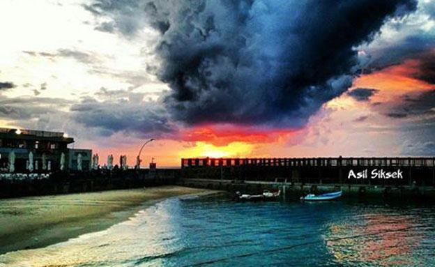 ים, שמיים, שמש, חוף (צילום: חדשות 2)