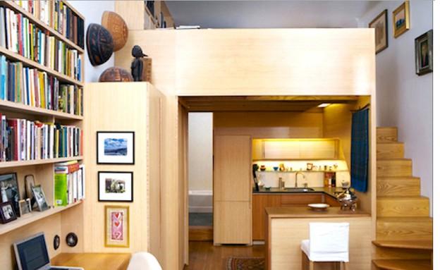 דירה מיניאטורית בניו יורק (צילום: Tim Seggerman)