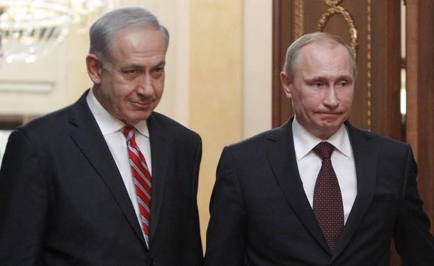 ולדימיר פוטין ובנימין נתניהו (צילום: ap)