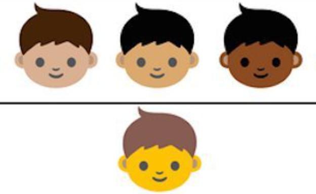 אמוג'י בגווני עור שונים
