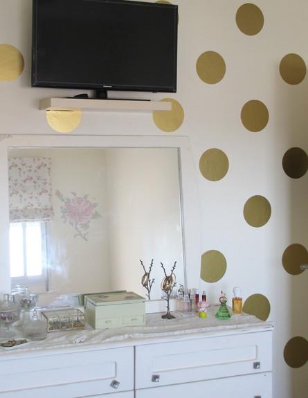 שדרוגים, קירות חדר הורים מדבקות, לפני, עיצוב וצילו