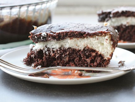 עוגת שוקולד קוקוס (צילום: אפרת ליכטנשטט, אז מה את עושה כל היום?)