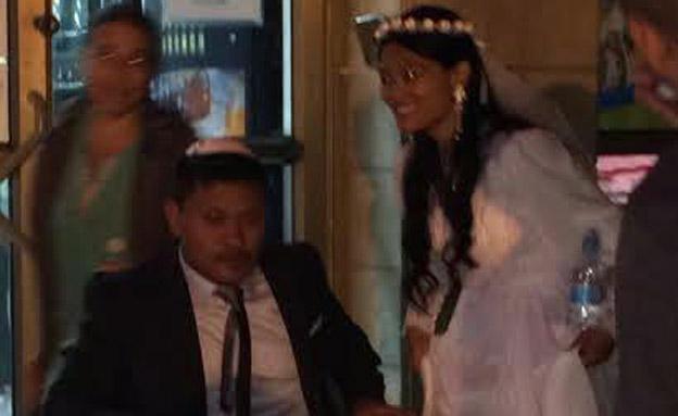 החתן הפצוע ביום שמחתו במרפאה (צילום: טרם)